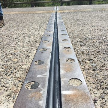 Bridge Expansion Joint BEJS newly restored steel angles EMSEAL