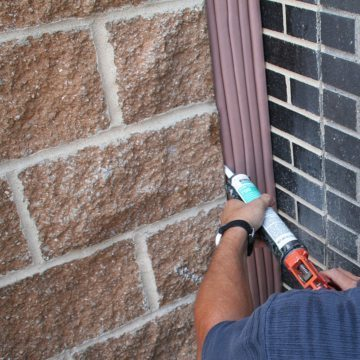 A field-applied corner bead of supplied silicone completes the installation and seals substrate irregularities.
