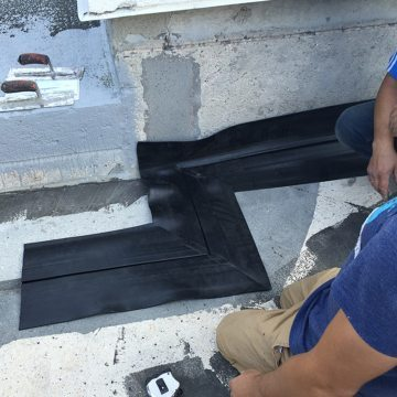 EMSEAL RoofJoint roof expansion joint factory fabricated transition dryfit