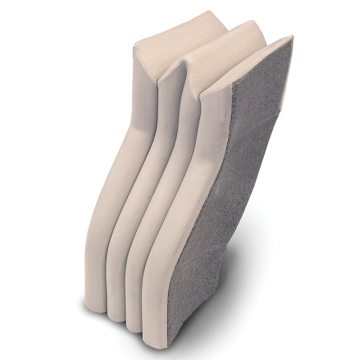 Solid-Wall RoofJoint Closure provides a transition from the underside of RoofJoint to Seismic Colorseal to seal the wall to roof interface in solid wall construction.
