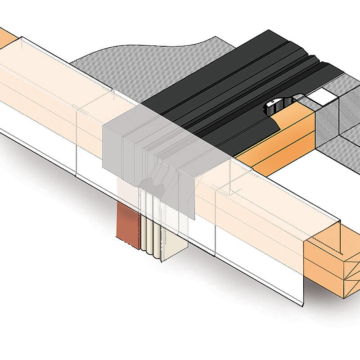 Roof to wall expansion joint transition 3-D model - RoofJoint by Emseal